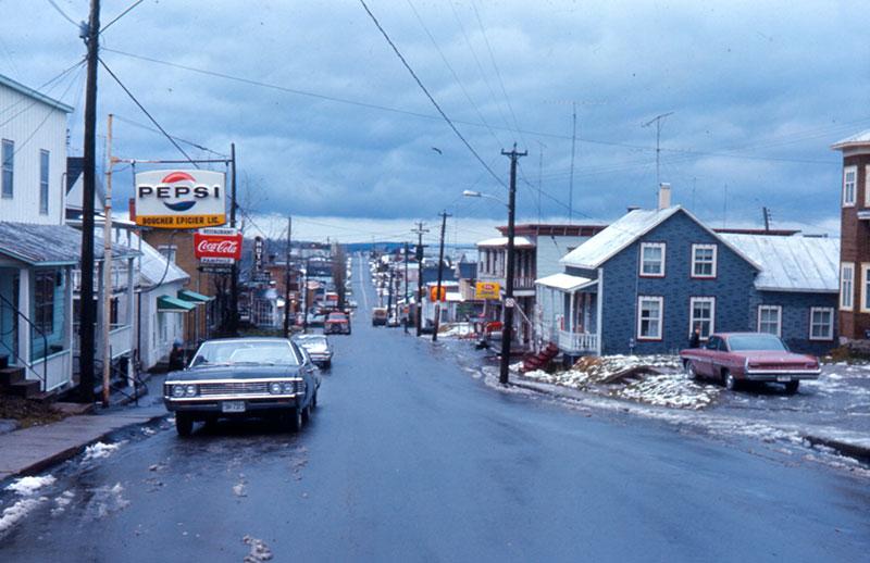La rue Principale en 1966