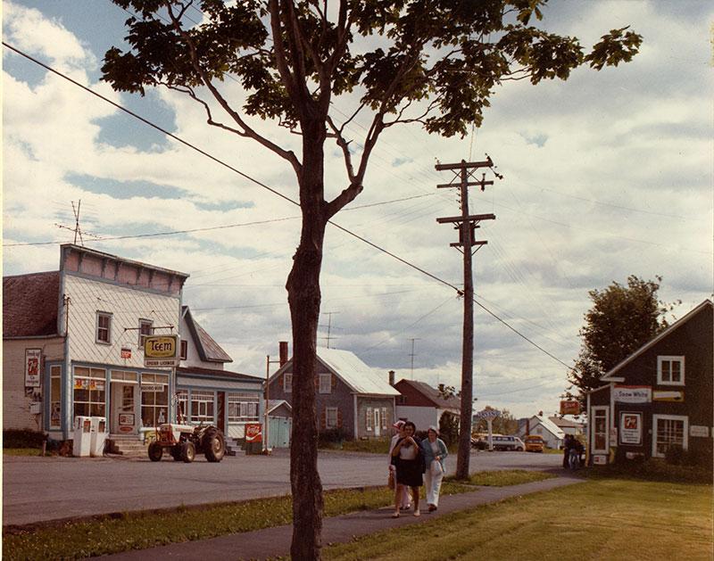 Le cœur du village dans les années 1970