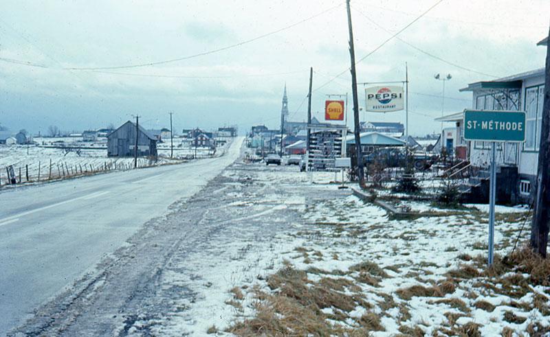 Vue du village en 1966