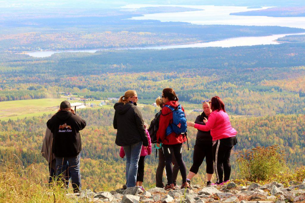 Vue panoramique au sommet du mont Adstock